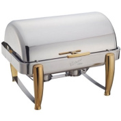 Winco Virtuoso 7.6l Chafer, Full, 180 Roll-Top, Gold Accent