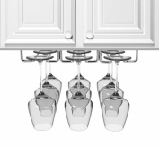 Sorbus® Under Cabinet Wine Glass Rack and Stemware Holder - 3 Rows Holds up to 9 of Your Most Delicate Glassware