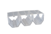 Premium Clear Plastic Stackable In-Fridge Wine Rack - Pack of 3 Wine Racks
