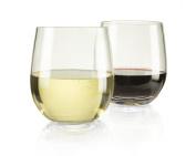 "Top Shelf Barware! ""Game Changer"" Unbreakable Stemless Wine Glasses, Thicker - Stronger - More Durable! Indoor/outdoor, 380ml, Set of 4"