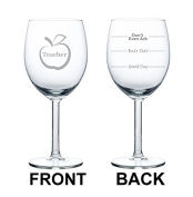 300ml Wine Glass Funny Teacher Good Day Bad Day Don't Even Ask