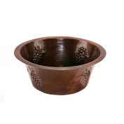 41cm Round Copper Prep Sink with Grapes