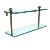 Double-tier 41cm Tempered Glass Shelf