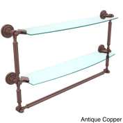 Dottingham Collection 60cm 2-tiered Glass Shelf with Integrated Towel Bar