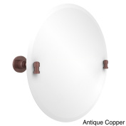 Unframed Round Tilt Wall Mirror Washinton Square Collection with Bevelled Edge