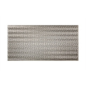 Fasade Current Vertical Crosshatch Silver 1.2m x 2.4m Wall Panel