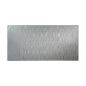 Fasade Waves Vertical Argent Silver 1.2m x 2.4m Wall Panel