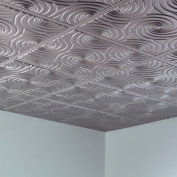 Fasade Typhoon Argent Silver 0.6m x 0.6m Lay-in Ceiling Tile