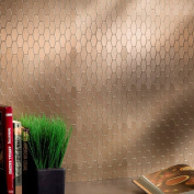Aspect 15cm x 10cm Wide Hex Champagne Matted Metal Tile