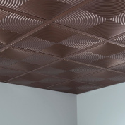 Fasade Echo Argent Bronze 0.6m x 0.6m Lay-in Ceiling Tile