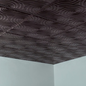 Fasade Typhoon Smoked Pewter 0.6m x 0.6m Lay-in Ceiling Tile