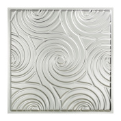 Fasade Typhoon Brushed Aluminium 0.6m x 0.6m Lay-in Ceiling Tile