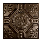 Great Lakes Tin Rochester Bronze Burst 0.6m x 0.6m Nail-up Ceiling Tile