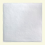 Great Lakes Tin Chicago Gloss White 0.6m x 0.6m Nail-Up Ceiling Tile