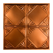 Great Lakes Tin Erie Copper 0.6m x 0.6m Lay-In Ceiling Tile