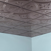 Fasade Traditional Style #5 Brushed Nickel 0.2sqm Lay-in Ceiling Tile