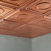 Fasade Rosette Polished Copper 0.2sqm Lay-in Ceiling Tile