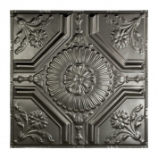 Great Lakes Tin Rochester Argento 0.6m x 0.6m Nail-Up Ceiling Tile