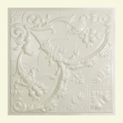Great Lakes Tin Saginaw Antique White 0.6m x 0.6m Lay-In Ceiling Tile