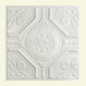 Great Lakes Tin Rochester Gloss White 0.6m x 0.6m Lay-In Ceiling Tile