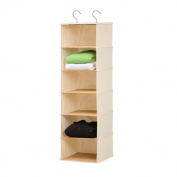 6-shelf Bamboo/Natural Hanging Organiser