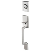 Sure-Loc Stockholm Front Door Stainless Steel Handle Set with Interior Lever