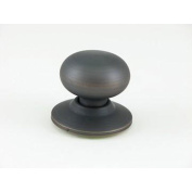 Oil-rubbed Bronze Mushroom Dummy Doorknob
