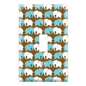 Elephant Pattern Decorative Wall Plate Cover
