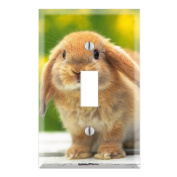 Cute Rabbit Bunny Decorative Wall Plate Cover