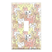 Kitty Cat Pattern Decorative Wall Plate Cover