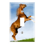 Dancing Horse Decorative Wall Plate Cover
