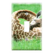 Sleeping Baby Giraffe Decorative Wall Plate Cover