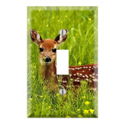 Deer Bambie Decorative Wall Plate Cover