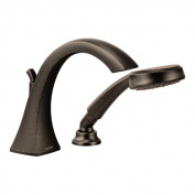 Moen Voss Oil Rubbed Bronze High Arc Roman Tub Faucet with Hand Shower