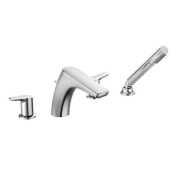 Moen Method Chrome Two-handle Low Arc Roman Tub Faucet with Hand Shower