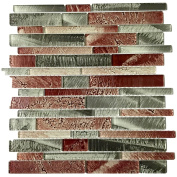 Upscale Designs 30cm Glass Mesh-Mounted Mosaic Wall Tile