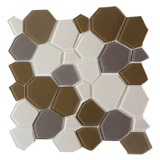 Upscale Designs 29cm Glass Mesh-Mounted Mosaic Wall Tile
