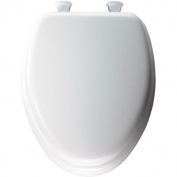 Soft Elongated Closed Front Toilet Seat in White