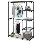 Whitmor Black Double-rod Freestanding Closet Organiser