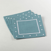 Embroidered Coaster with Dotted Border