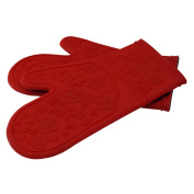 Le Chef Ultra-flex Silicone Padded Kitchen Oven Mitt Set