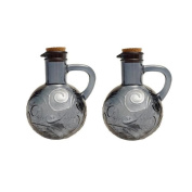 French Home 410ml Oyster Grey Recycled Glass Oil and Vinegar Cruet