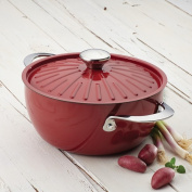 Rachael Ray Cucina Oven-To-Table Hard Enamel Nonstick 4.3l Covered Round Casserole