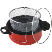 Gourmet Chef 4.3l Non Stick Deep Fryer with Frying Basket and Glass Cover