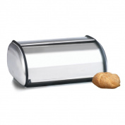 44cm Brushed Steel Bread Box