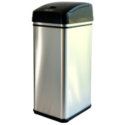 iTouchless 49.2l Deodorizer Filtered Stainless Steel Sensor Trash Can
