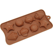 Freshware 8-cavity Tropical Chocolate/ Candy/ Clay Silicone Mould