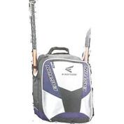 Easton Rampage Back Pack Bat Bag, Black/Silver