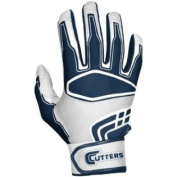Cutters B030 Prime Command Batting Gloves White/Navy Adult - M