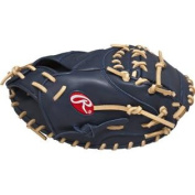 Rawlings Gold Glove Gamer XLE Glove (Navy/Camel), Right Hand Throw, 32cm